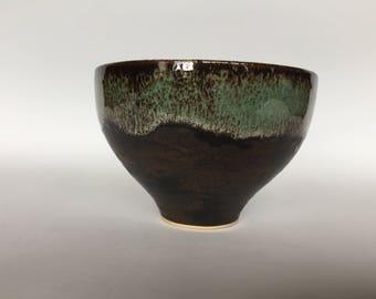 Shogun bowl #156 , turqouise waterfall, wrought iton