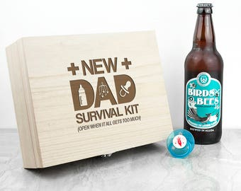 Personalised New Dad Survival Kit - New Daddy - First Father's Day - First Time Dad - Dad Gift - Pregnancy Announcement - FREE UK DELIVERY