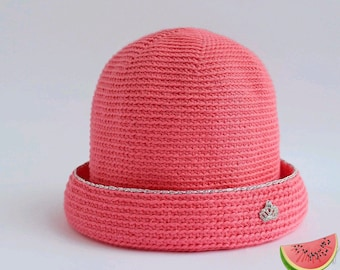 Pink Bowler Hat with Crown for Little Princess