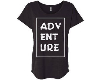 Adventure Women's Travel T-Shirt, Hiking, Yoga, Gym, Camping, Mothers day gift, Wanderlust, Gift for women, Vintage