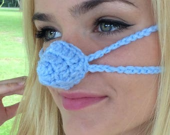 Light Blue Nose Warmer, Outdoor Sports Activities, Vegan Friendly, Teacher Gift, Sleep with Warm Nose, Grandmother, Mom Sister, Vegan fun