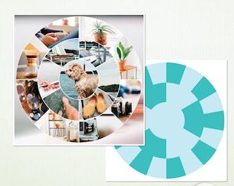 "Circle Photoshop Templates - 12"" x 12""  Photoshop & Photoshop Elements - Personal Commercial  9009"