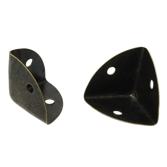 Set of 2 corners / angle - bronze - size: 25 mm