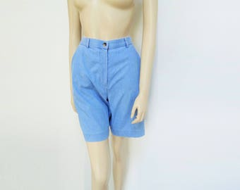 High Waisted Shorts, UK8, Blue Shorts, Denim Shorts Cotton Shorts, Festival Shorts, Clothing, Vintage Clothing, Womens Shorts, Ladies Shorts