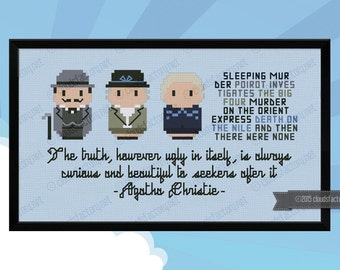 Agatha Christie - Mini Libraries - Cross stitch PDF pattern