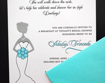 Bridal Shower Invite, Bachelorette Party, Tea Party, Girls Night Out, Bride to-be