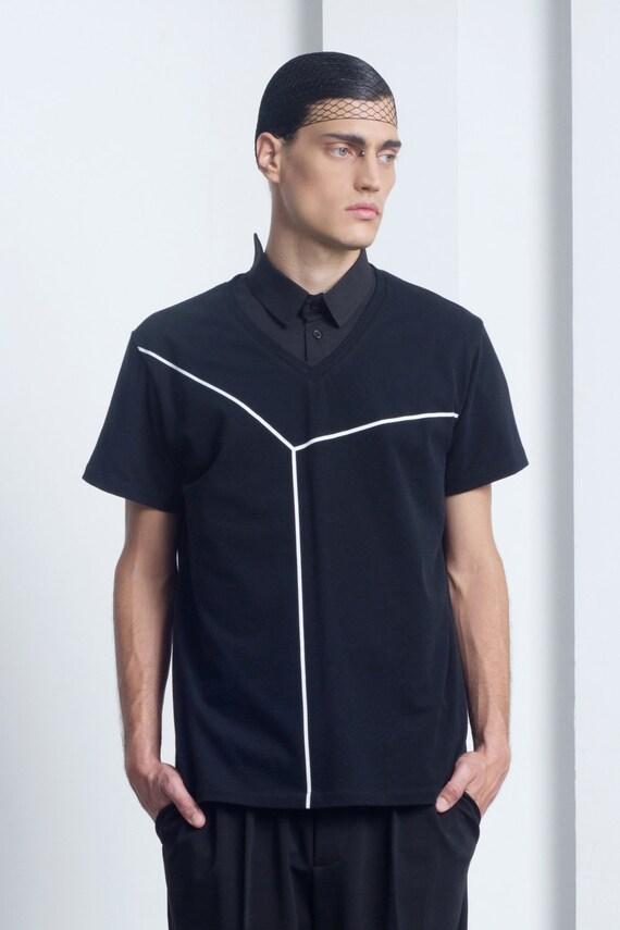 Mens Tshirt Shatnez Mens Black tshirt Mens Hebrew Tshirt Mens shir, Mens Short sleeve tshirt Mens clothing minimalist clothing Jerusalem