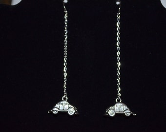Earrings VW Beetle Dangle Chain Earrings