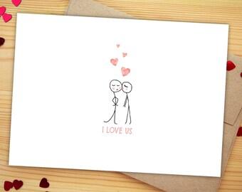Cute Love Card, Cute Anniversary Card for Wife, Gift for Boyfriend Anniversary Card, Valentine Card, Valentines Day Card for Husband Gift