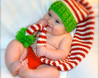 Baby Christmas Hat, Newborn Christmas Hat, Infant Christmas Hat, Christmas Photo Prop, Christmas Baby Elf Hat, Baby Christmas Elf Hat