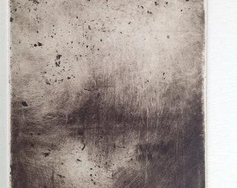 Art print, chalcographic engraving, etching. Landscape #019