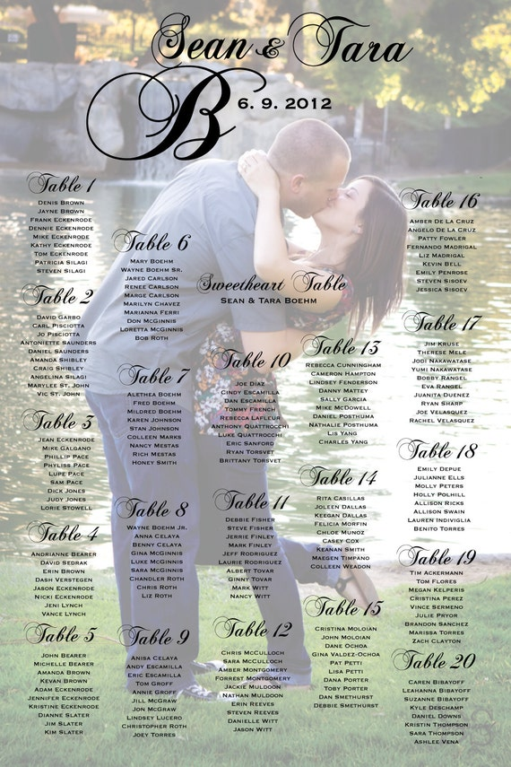 Wedding Seating Chart Posters  BesikEightyCo