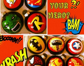 Super Hero Ornament (10 different designs to choose from / price is per ornament)