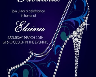 Forty and Fabulous Adult Birthday Invitation - Adult Birthday Invite - 40th Birthday Invitation