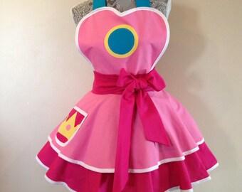 Princess Peach - Retro Apron - Pink apron - Cosplay Apron