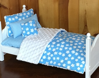 """Five piece bedding set only for an American Girl Doll or any 18"""" doll"""