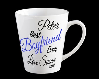 Valentines day mug, Personalised Boyfriend coffee mug, Best Boyfriend Ever, Valentine's Day gift, Personalised mug, Boyfriend gift