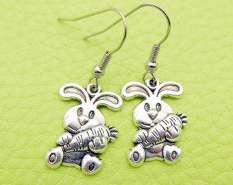 Rabbit Bunny Earrings stainless steel