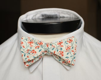 The Enzo - Our cotton bowie in orange and blue floral