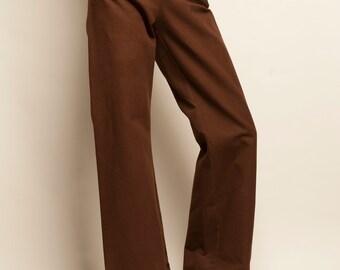 Brown cotton sailor trousers