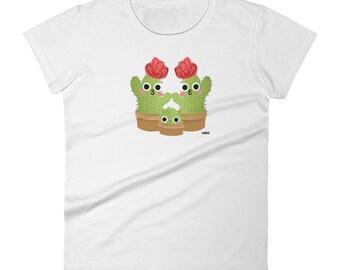 Cactus Moms Women's T-Shirt, LGBT T-Shirt, Queer T-Shirt, Family T-Shirt.