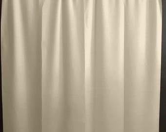 Solid Poplin Curtain Panel / Window Decor / Window Treatments / Backdrop Ivory