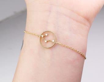 Gemini bracelet, Gemini constellation, bracelet, horoscope bracelet, constellation, Gemini jewelry, zodiac bracelet, sister birthday gift