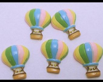 Colorful Hot Air Balloon Ride Sky Resin Flatbacks AZ338