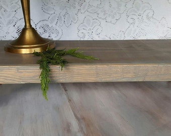 Weathered Gray Rustic Coffee Table Tray