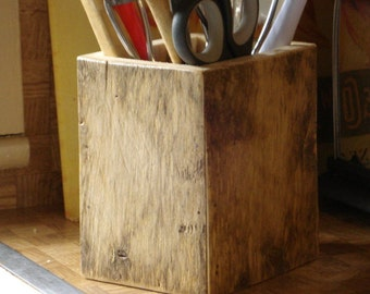 Driftwood Cooking Utensil Holder