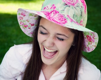 Sun Hat Tutorial and Sewing Pattern for Women - Womens Hat Pattern PDF