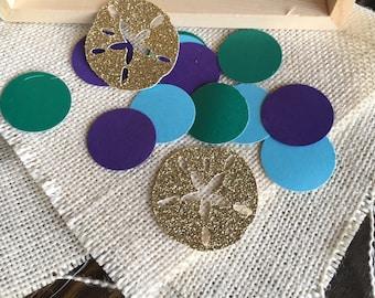 Under The Sea Party Confetti, Under the Sea Decorations, Sand Dollar Confetti, Mermaid Decorations, Mermaid Confetti 50ct
