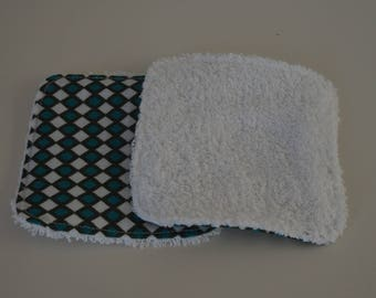 "Washable cotton and Terry cloth. ""Highland"" for these wipes patterns"