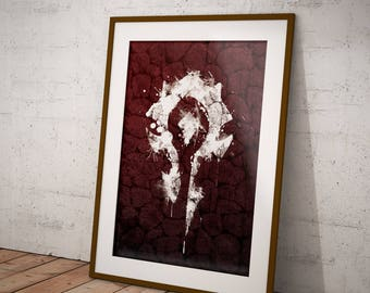 World of Warcraft - Horde Faction Icon Poster