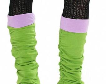 Leg Warmers - PINSTRIPE/CIRCUS STRIPE - Organic Cotton/Spandex