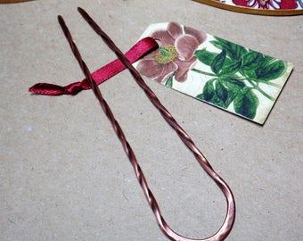1 Metal Hair Pin, Copper Hair Fork, Choose Size - Womens Accessories, Hair Pins, Copper Combs, Hair Sticks, Barrettes, Dread Beads, DIY Gift