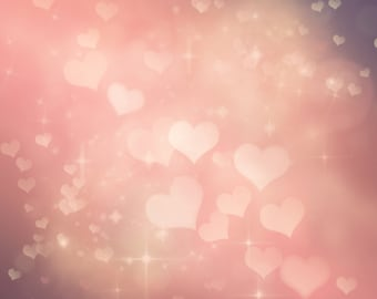 BOKEH HEARTS vinyl Photography Backdrop