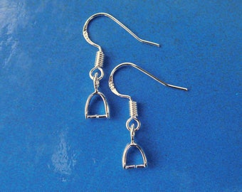 Supports 925 sterling silver bead earrings with clip