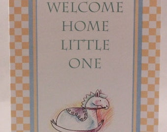 Welcome Home Little One by Paper Images . 1 Single Card with Envelope.