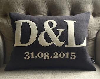Wedding anniversary personalised cushion pillow
