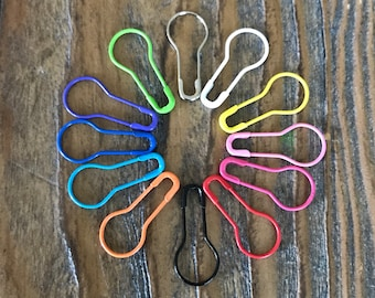 Bulb Pin stitch markers, 12 pcs, assorted colors