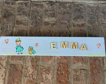 Personalized wooden name, child's plate