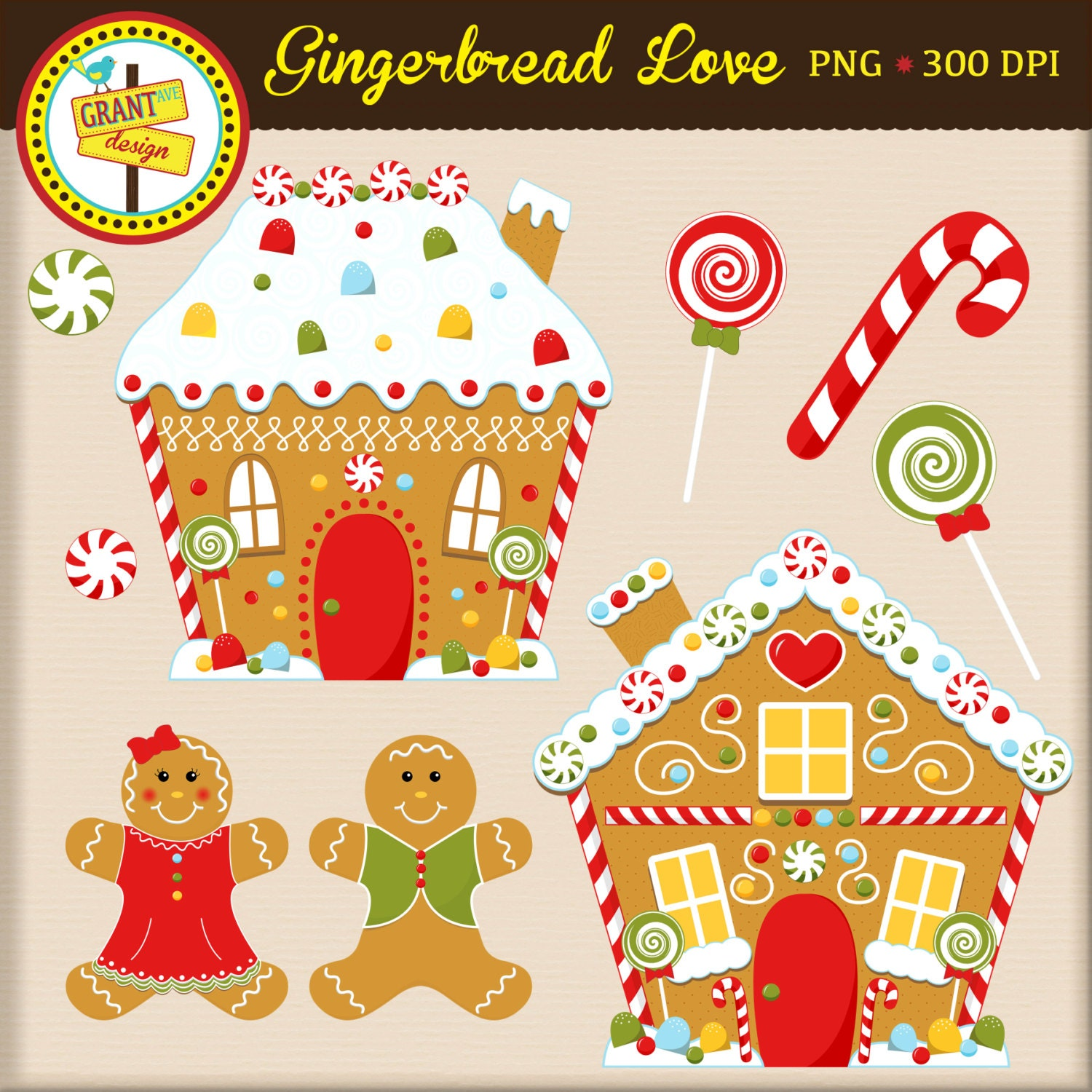 gingerbread clipart gingerbread houses and people clip art rh etsy com gingerbread house candy clip art gingerbread house door clip art