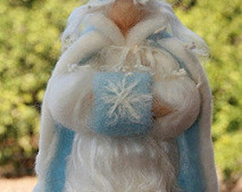 Waldorf Inspired Needle Felted Ice Queen, Winter Queen, winter Nature Table
