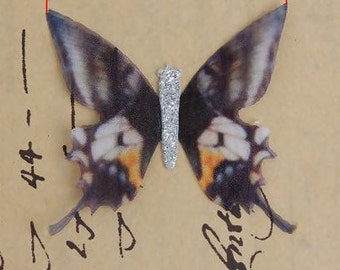 """FREE SHIPPING Organza For DIY & Craft Black Double Layer Ethereal Butterfly Glitter - 2"""" x 1 6/8"""" - Pack of 2"""
