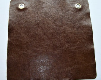 brown bomber leather 12x12 sample
