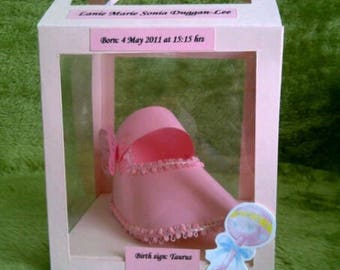 3D boxed Baby Card