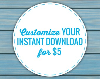 Customize your instant download_Add On