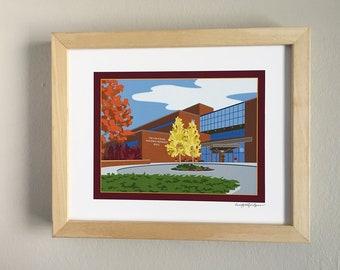 The Law School, Walter Mondale, University of Minnesota, art print