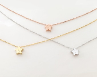 Star Necklace Personalized Kids Personalized Teen Personalized Childrens Celestial - FSN